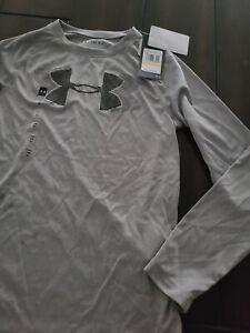 Under Armour HeatGear Long Sleeve Boys Shirt youth medium nwt