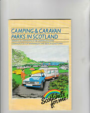 CAMPING & CARAVAN PARKS IN SCOTLAND Folded Map (1980's)