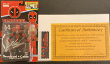 DEADPOOL CABLE SIGNED ROB LIEFELD COA WOODEN PLUSH PUPPET SDCC EXCLUSIVE MARVEL