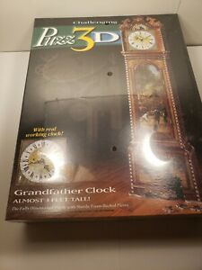Puzz 3D Puzzle GRANDFATHER CLOCK 777pcs 3' Tall Wrebbit Challenging NEW & SEALED