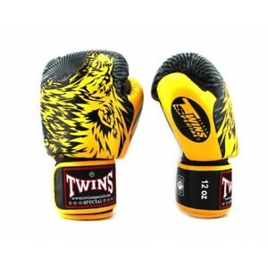 TWINS BOXING GLOVES WOLF YELLOW (FBGV-50)