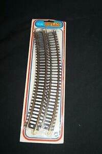 "1 Pack New Life Like HO Scale Train Tracks Brass 18"" Curved Radius 08601 4 Pcs"