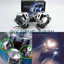 2x White Transformers Style CREE LED Spot Fog Light Silver For Motorcycle Yamaha