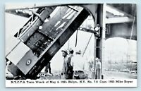 Brooklyn, NEW YORK - 1965 TRAIN WRECK DISASTER POSTCARD - CRANE CAR CLOSE UP  S2