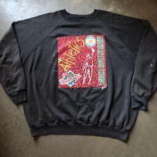 Men's Vintage 80s Oakland Athletics 1988 World Series Crewneck Sweatshirt Sz 3XL