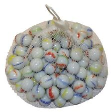 200 PC HI-QUALITY MILKY Coloured MARBLES Kids Glass Toys Traditional Games Party