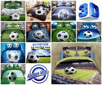 3D PHOTO Football Sport Bedding Set QULIT Duvet Cover Pillowcase Sheet KIDS BOY