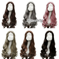 Lolita Black/Brown/Gray Curly Long Hair Women Basic Cosplay Wig Heat Resistant