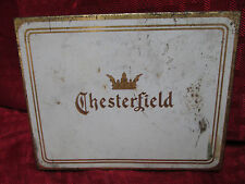 Vintage Collectible Chesterfield Cigarettes Tin Box and Lighter