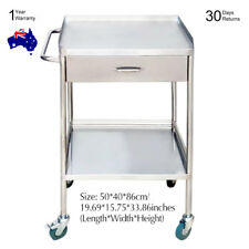 Medical Clinic/Beauty Dental Trolley Two Layers Lab Cart With Upper Drawer SH