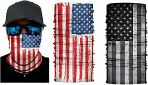 2 Pack US Flag Face Mask Tube Scarf Neck Protection Face Cover New