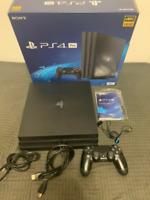 SONY PS4 PlayStation 4 Pro Jet Black 1TB (CUH-7200B B01) Japan Excellent!!!