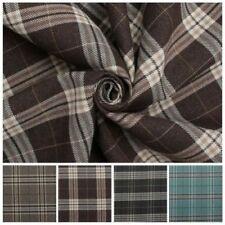 Telas y tejidos de tartán poliéster para costura y mercería