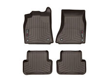 WeatherTech Floor Mats FloorLiner for Audi A4/Allroad/S4 - 1st & 2nd Row - Cocoa
