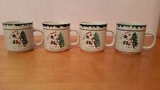 "Atico International ""Let it Snow"" Mugs Cups Set of 4"
