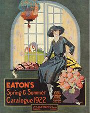 EATON'S CATALOGUE (front cover) 1922 - 8x10 Color Photo
