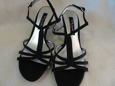 Nina New York Ladies Size 7M Black Slingback Open Toe Dressy Shoes/Heels