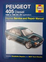 Haynes Service and Repair Manual Peugeot 405 diesel 1988 to 1996 E to N (1712)
