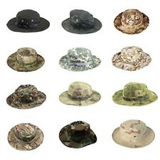 Men Fishing Hat Panama Tactical Airsoft Camouflage Cap Army Military Summer Brim