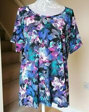 Marks & Spencer Active Women's Short Sleeve Floral M&S Fitness Top ~ UK Size 14