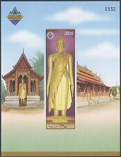 LAOS Bloc N°163** Non dentelé, Bouddha, 2003 Buddha Sheet Sc#1602 imperf. MNH