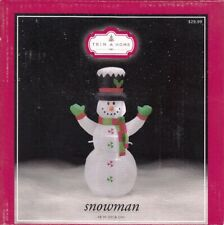 "TRIM A HOME SNOWMAN CHRISTMAS INFLATABLE 48"" 4 FT - NEW IN BOX!"