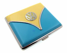 Cigarette Case - Volkswagen Samba Yellow Blue Chrome King Size - NEW Licensed