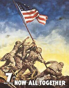 New Desperate Enterprises War Bonds Iwo Jima Tin Sign