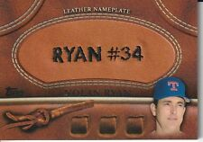 Nolan Ryan Texas Rangers 2011 Topps Update Series  Leather Nameplate Card