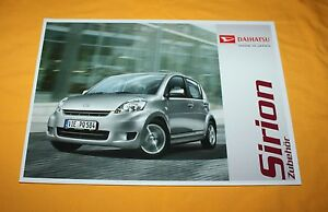 Daihatsu Sirion 2010 Zubehör Prospekt Brochure Depliant Prospetto Catalog Folder