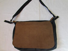 Gap Messenger Bag Book Crossbody Denim/Jean and Leather?/Faux Leather? Flap