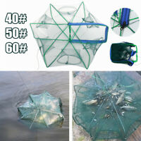 6 Holes Automatic Fishing Net Shrimp Cage Crab Fish Trap Foldable  Accessories