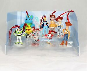 Disney Toy Story 4 Deluxe Christmas Ornaments Figure 9pc Set Woody Buzz Bo Forky