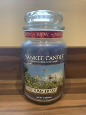 YANKEE CANDLE BLUE SUMMER SKY Large Jar Candle 623g BRAND NEW