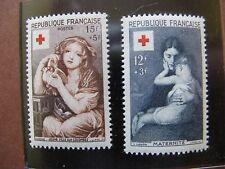FRANCE neufs  n° 1006-1007  CROIX ROUGE 1954