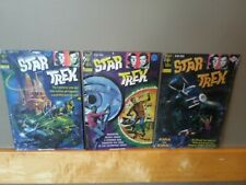 Sealed STAR TREK Metal Tin Sign Gold Key Comic Book Cover Set NEW #15, #25, #33