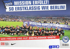 Postkarte Sammler + Hertha BSC Berlin + Aufstieg 2011 + Mission erfüllt ! + NEU