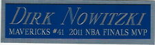 DIRK nowitzki mavericks NAMEPLATE FOR YOUR AUTOGRAPHED Signed Basketball JERSEY