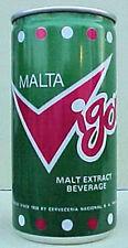 Malta Vigor Malt Beverage 10 ounce Pull Tab Beer Can, Panama, 1980's