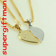 R566 - COEUR SECABLE BICOLOR - BREEKHART - goud/or !