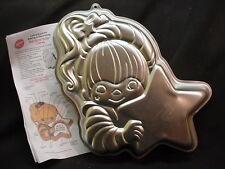 Wilton RAINBOW BRITE cake pan BRIGHT GIRL metal mold tin INSTRUCTIONS Birthday