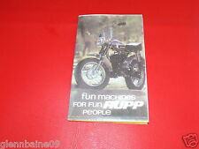 """VINTAGE  RUPP MINIBIKE POINT OF SALE 10 1/2"""" X 6 1/2"""" FOLD OUT  (REPRODUCTION )"""