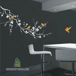 Luxury Design Tree and  Birds Wall Art Decal,wall Stickers /Wall Decals -- PD156
