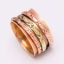 Solid Copper Brass Spinner Ring Jewelry Meditation ring statement All Size AS-19