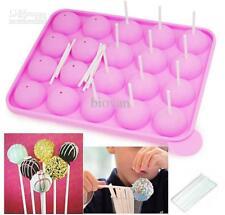 Molde de Silicona 20 Pop Cake Maker hornear cocinar establecer Lollipop palos pop fiesta