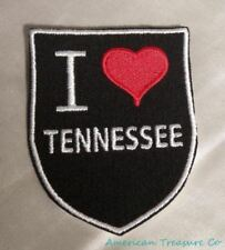 Embroidered Retro Vintage Style I Love Tennessee TN State Patch Iron On Sew USA