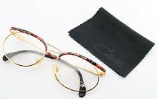 Cazal Glasses 263 Col. 456 Vintage Eye Frame Gold Red Woman Cari Zalloni Germany