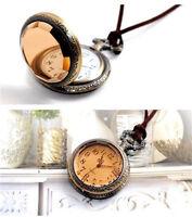 NEW Fashion Vintage Antique Quartz Pendant Pocket Watch Necklace Sweater Chain