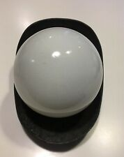 MID-CENTURY MODERN OUTDOOR LIGHT WALL SCONCE GLASS GLOBE/ METAL