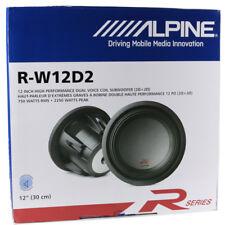 "Alpine R-W12D2 12"" Type-R Series 2250W Max Dual 2-Ohm Car Audio Subwoofer NEW"